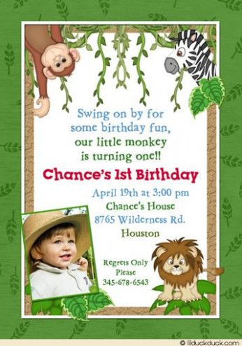 The Reasons Why We Love Jungle Party Invitation Template Free Jungle Party Invitation Templ