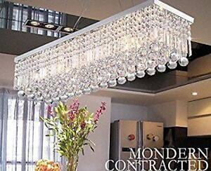 60 80cm Modern K9 Crystal Rectangle Ceiling Light Chandelier