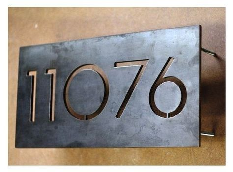 Pin By Susie England On Exterior Metal House Numbers Modern House Number