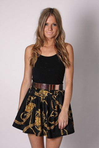 night cap yellow print skirt