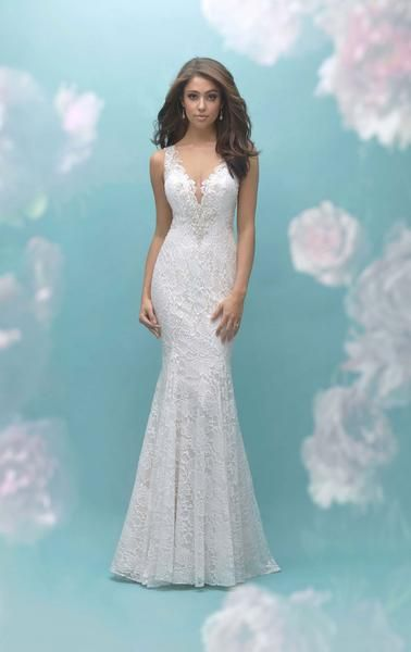 9460 Allure Bridal Wedding Dresses Fit Flare Wedding Dress