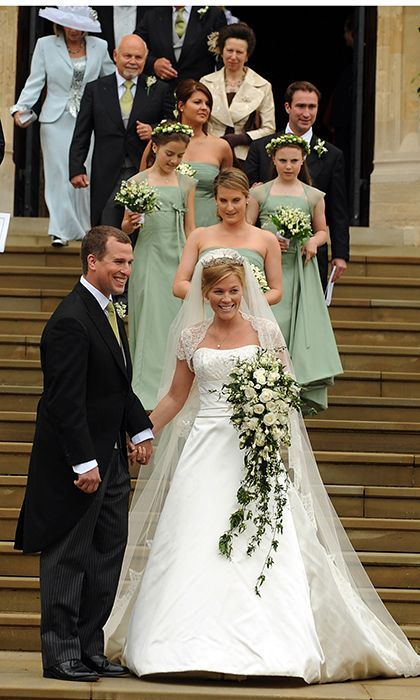 Royal Wedding Peter Phillips And Autumn Kelly S Nuptials At Windsor Castle Hello Us Jessica Small Bouquet White Roses