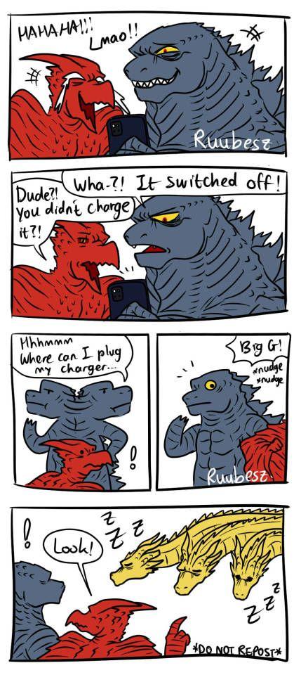 Procrastination Now Introducing King Ghidorah X Charger A Super Godzilla Funny Godzilla Comic Panels