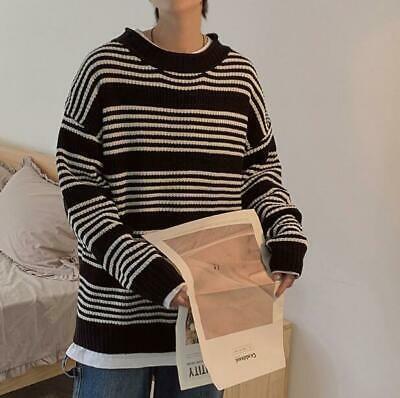 Vska Men Mock Neck Knit Pure Colour Long Sleeve Pullover Slim Sweater Top