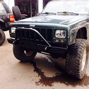 Dnd Jeep Cherokee Xj Front Square Bumper With Winch And Cherokee