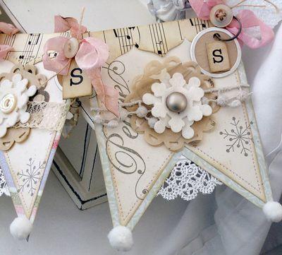 Bunting Shabby Chic 20 Drapeau 10 M VINTAGE GARDEN Anniversaire Mariage Floral Carreaux Dot