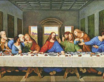 Cross Stitch Pattern The Last Supper Pattern Last Supper Cross Stitch Cross Stitch Patterns Cross Stitch Counted Cross Stitch Pattern Cuadro De La última Cena Arte Y Literatura Producción Artística
