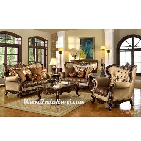 kursi tamu sofa ruang tamu mewah   set ruang keluarga