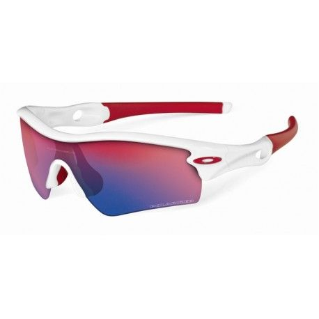 red and white oakleys