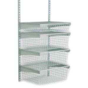 Closetmaid Shelftrack 1 Ft To 2 Ft X 17 In White Wire Closet Kit Lowes Com Closet Kits Wire Closet Shelving Wire Closet Kits