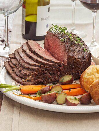 Peppercorn Roast Beef With Herbed Yorkshire Puddings Recipe Christmas Dinner Menu Easy Christmas Dinner Menu Beef