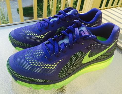 info for 933b0 b8290 NEW NIKE AIR MAX 2014 Deep Royal Blue Electric Green Volt 621077402 MNZ SZ  9  Nike  RunningCrossTraining