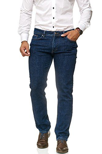 Herren Stretch Anzughose Slim Fit Jeanshose Business