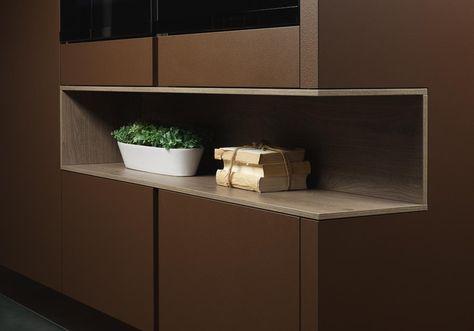Der T-Cut reicht Küchentuch oder Folie - in einer olina Küche - folie für küchenfront