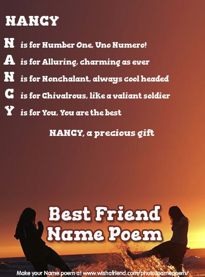 Acrostic Name Poem For Your Bff Friend Poems Together Quotes Poems