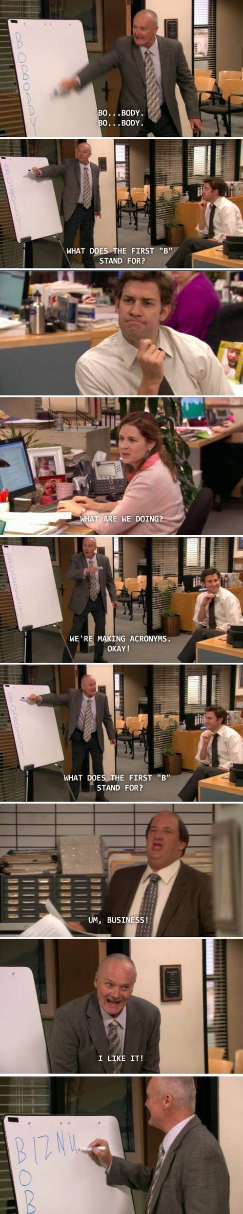 "When he invented this team building exercise: Creed Was The Funniest Character On ""The Office"" – Here's 29 Reasons Why Best Of The Office, The Office Show, Office Tv, Dc Memes, Funny Memes, Hilarious, Funny Videos, Parks N Rec, Parks And Recreation"