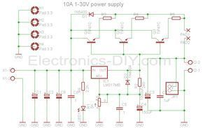 10a 1 30v Variable Power Supply With Lm317