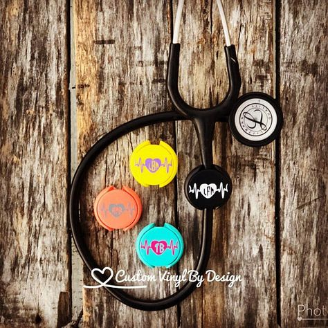 Charm Littmann Ring Stethoscope ID Tag Nurse Graduation Gift Personalized Name Tag