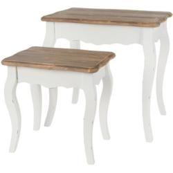 2 Tlg Satztisch Set In 2020 Beistelltisch Weiss Landhaus Mobel Beistelltisch Holz