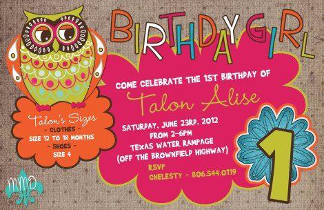 Custom Designed Birthday Invitation Merelymadisondesignswordpress