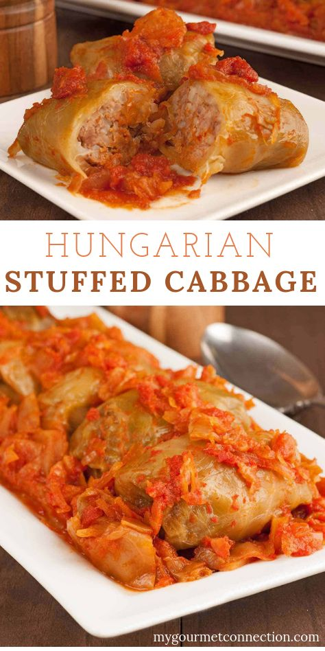 This family recipe for Hungarian Stuffed Cabbage Rolls is just what you want in a cabbage roll – authentic, flavorful and it makes for even better leftovers! Hungarian Cuisine, Hungarian Recipes, German Food Recipes, Slovak Recipes, Hungarian Food, Cabbage Rolls Polish, Beef Recipes, Cooking Recipes, Recipies