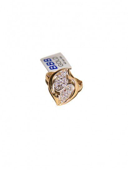 خاتم ذهب عيار 18 خاتم ذهب شكل ورقة شجرة بفصوص بيضاء عيار 18 Enamel Pins Accessories Enamel