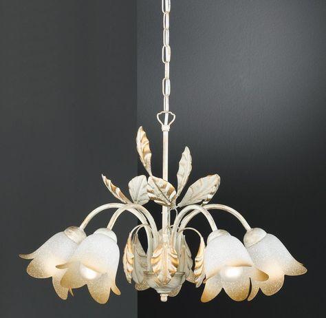 Lampe med 6 lys Kolleksjon VERDI Hvit Interiør Produkter - klebefolien für küchenfronten