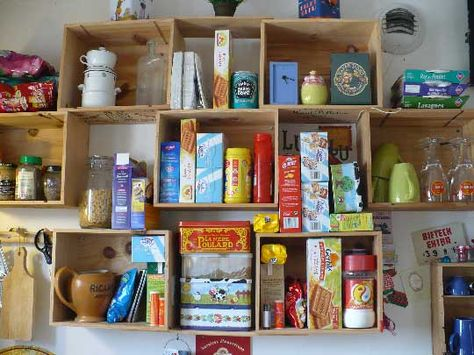 Cabinets: Mount them to the wall and you have an instant cabinet. We do suggest testing the strength of the boards and nails that will be on the bottom since they'll support the full weight of whatever you place inside of them.