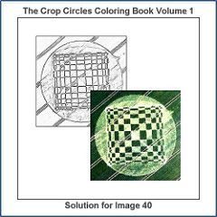 Solution For The Drawing Number 40 Of 100 From The The Crop Circles Coloring Book Volume 1 Coloring Books Coloring Book Therapy Circle Drawing
