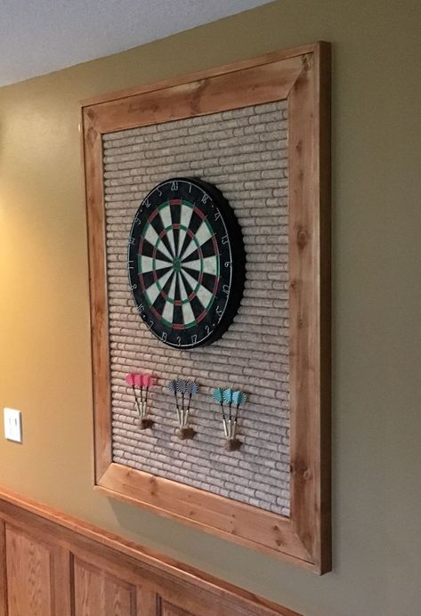 Cork Dartboard II Partyraum ideen - Cork Dartboard II Partyraum ideen Informationen zu Cork Dartboard II Partyraum ideen Pin Sie k - Game Room Basement, Man Cave Basement, Basement Ideas, Gameroom Ideas, Garage Ideas, Basement Decorating Ideas, Teen Basement, Garage Game Rooms, Dark Basement