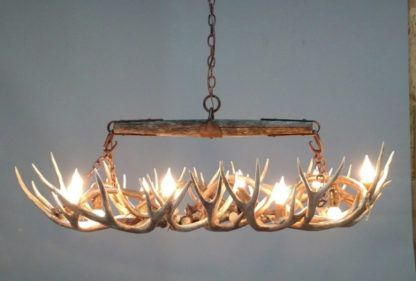 Snowmass Antler Chandelier Timber Mule Deer Small Oval