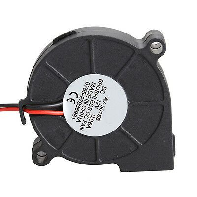 12V Brushless DC Cooling Turbine Blower Fan 7530s 2Pin 75x75x30mm 0.18A Durable