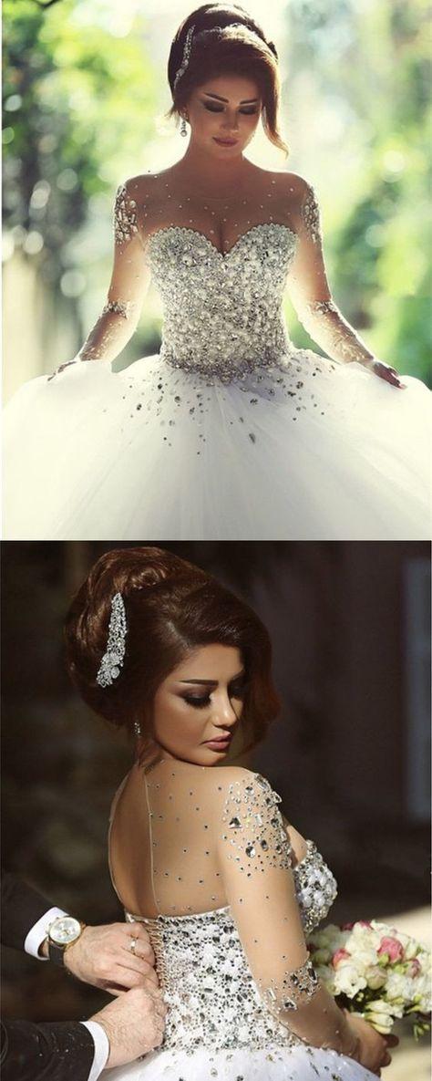 Vestidos De Noiva Para Gordas 2020 Elegante Casamento Barato Vestidos Tamanho Plus V Pescoço Com Fita Applique Manga Curta Com Cristal Frisado Chiffon