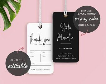 Diy Printable Clothing Hang Tag Template 2x3 5 Etsy Tag Template Hang Tags Clothing Diy Printables