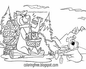 Free Coloring Pages Printable Pictures To Color Kids Drawing Ideas Yogi Bear Coloring Pages Us Campgroun In 2020 Bear Coloring Pages Kids Cartoon Characters Yogi Bear