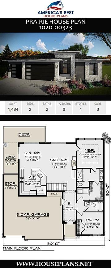 House Plan 1020 00323 Prairie Plan 1 484 Square Feet 2 Bedrooms 2 Bathrooms Prairie House House Plans Porch House Plans