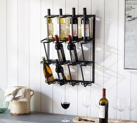 Vintage Blacksmith Wall Wine Rack | Wine rack wall, Wine