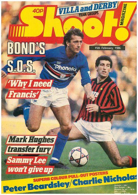 Shoot Magazine In Feb 1986 Featuring Sampdoria V Ac Milan On The Cover Spor