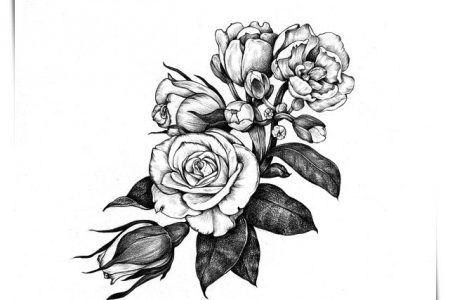 276 Dibujos De Flores Para Colorear Hermosos Disenos Para Darles Color Dibujos De Flores Flores De Amor Tatuajes
