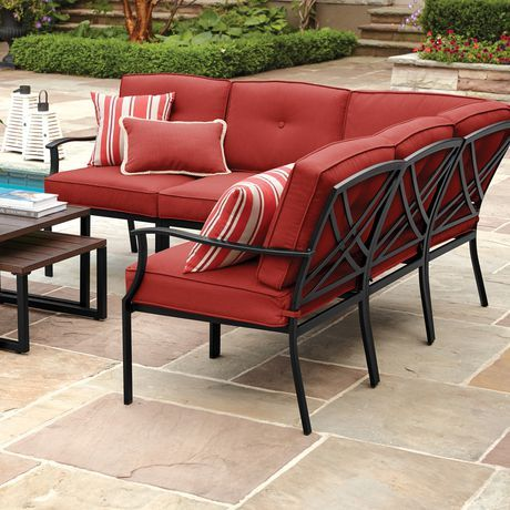 Mainstays Montclair Sectional Walmart Canada Outdoor Furniture Outdoor Furniture Sets Outdoor Sofa