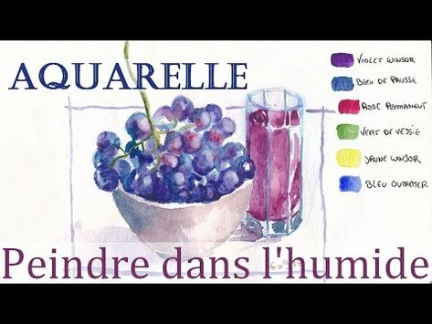 Aquarelle Peindre Dans L Humide Youtube En 2019 Aquarelle
