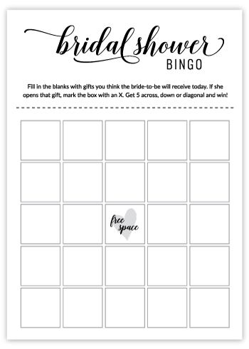 Bridal Shower Bingo Free Printable Black White Bridal Shower Bingo Printable Bridal Shower Bingo Bridal Bingo
