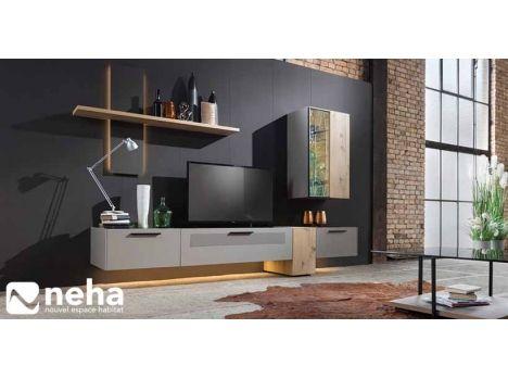 Meuble Tv Haut De Gamme Avec Nombreux Rangements Et Etageres Murales Divers Coloris Dimensions Et Compositio Meuble Moderne Mobilier De Salon Meuble Tv Haut