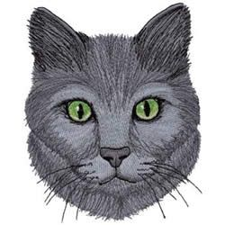 Russian Blue Cat Embroidery Design Cat Embroidery Design