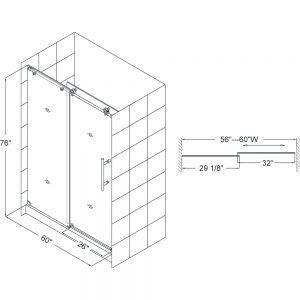 Standard Size Sliding Shower Doors Frameless Sliding Shower Doors Shower Sliding Glass Door Sliding Shower Door