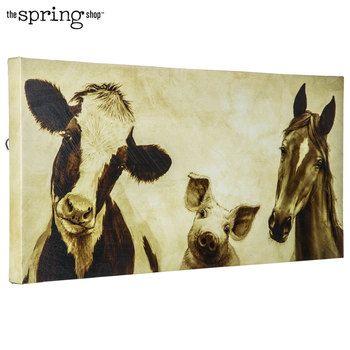 Sepia Farm Animal Canvas Wall Decor Hobby Lobby 5709340 Farm Animals Decor Farm Animal Paintings Animal Canvas