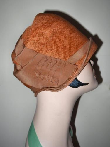 616a043a1 Authentic Orginal Vintage 1920's Straw Cloche Bucket Hat   Vintage ...