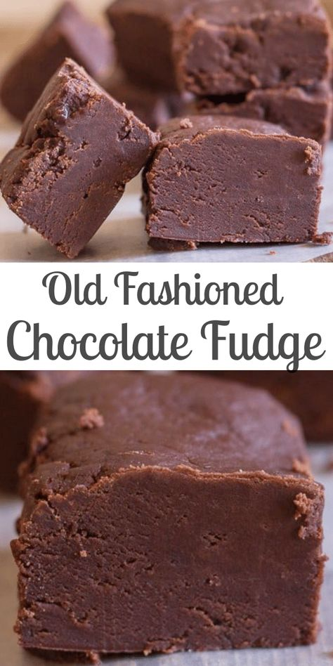Old Fashioned Chocolate Fudge, creamy and slightly crumbly this melt in your mouth Chocolate Fudge is the Best! #fudge #chocolatefudge #oldfashionedfudge #homemadefudge #chocolate #candy