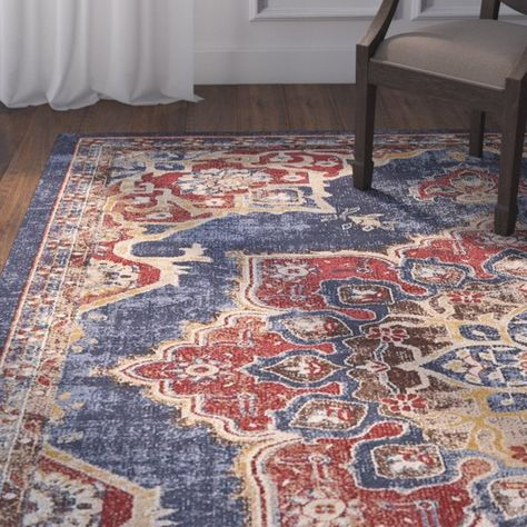 Dulin Persian Inspired Navy Blue Area Rug Red Area Rug Red Home