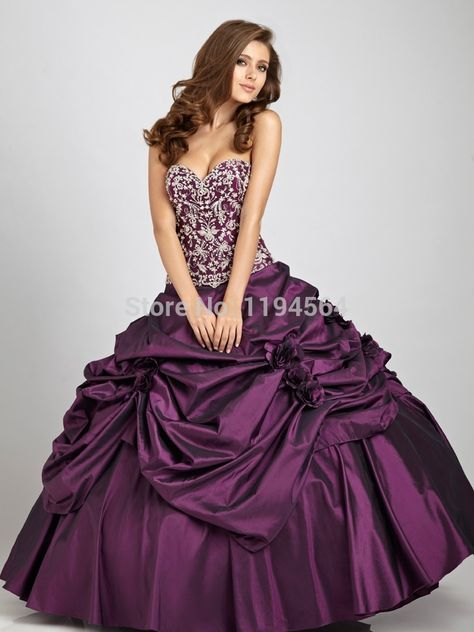 >> Click to Buy << 2014 Purple Quinceanera Dresses Appliques Masquerade Ball Gowns Party for 15 Year Vestidos De Galae Appliques Taffeta BQ312 #Affiliate
